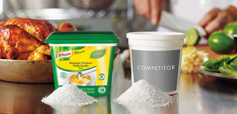 Knorr® Ultimate Chicken Reduced Sodium - 10048001499833 - LESS SALT, MORE ROASTED CHICKEN FLAVOR