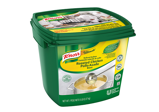 Knorr® Ultimate Chicken Reduced Sodium - Excess salt in bases masks the true flavor of soups.