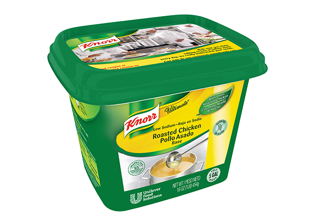 Knorr® Ultimate Refrigerated Base Low Sodium Chicken, 6 pound - Excess salt in bases masks the true flavor of soups.