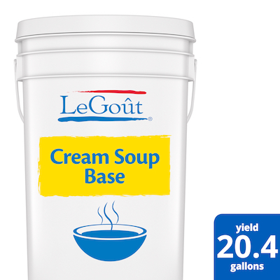 LeGout® Cream Soup Base 1 x 22.5 lb - Deliver simple, clean food with ease. LeGoût® Cream Soup Base is reinvented by our chefs with your kitchen and your customers in mind.