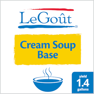 LeGout® Cream Soup Base 6 x 25.2 oz - Deliver simple, clean food with ease. LeGoût® Cream Soup Base is reinvented by our chefs with your kitchen and your customers in mind.
