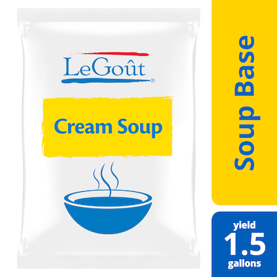 LeGoût® Soup Base Cream 25.2 oz, Pack of 6 - Scratch white sauce can scorch.