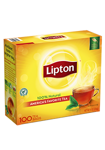 Lipton® Black Tea 100 count, pack of 10 - Lipton varieties suit every mood.