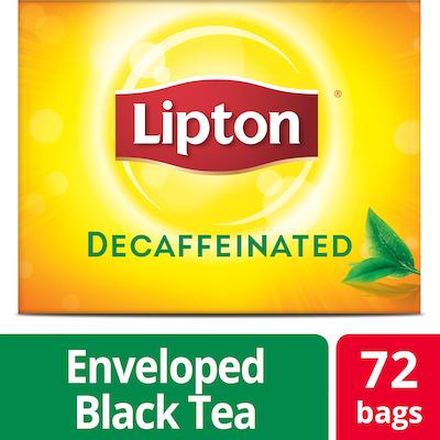 Lipton® Decaffeinated Black Tea 72 count, pack of 6 - Lipton varieties suit every mood.