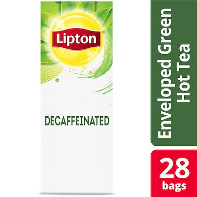 Lipton® Hot Decaffeinated Green Tea pack of 6, 28 count - Lipton varieties suit every mood.