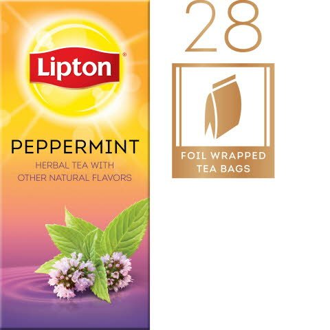 Lipton® Hot Peppermint Tea pack of 6, 28 count - Lipton varieties suit every mood.