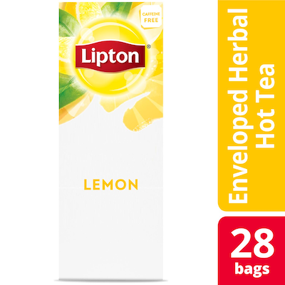 Lipton® Hot Tea Bags Enveloped Lemon pack of 6, 28 count - Lipton varieties suit every mood.
