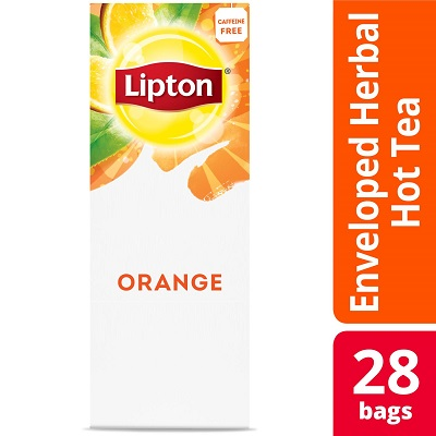 Lipton® Hot Tea Bags Enveloped Orange pack of 6, 28 count - Lipton varieties suit every mood.