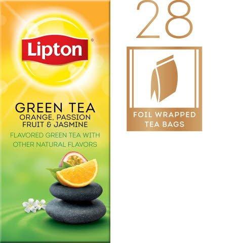 Lipton® Hot Tea Bags Green with Orange, Passion Fruit, Jasmine Flavor 168 count -