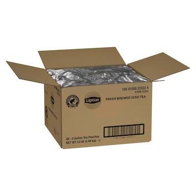 Lipton® Iced Tea Loose Leaf Pouches Black Tea 5 gallon, 48 count -