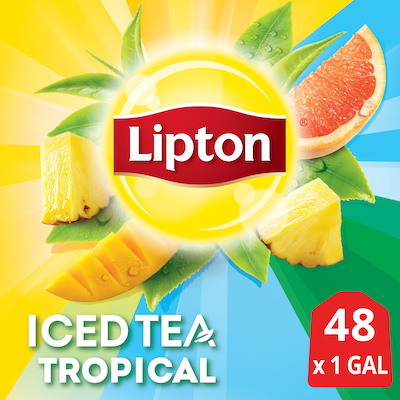 Lipton®  Iced Tea Unsweetened Tropical 1 gallon, yield 24 count, pack of 2 -