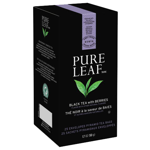 Pure Leaf  Hot Tea Bags Black Tea with Berries 25 count, Pack of 6