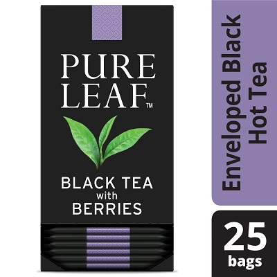 Pure Leaf® Hot Tea Bags Black Tea with Berries, 25 count, Pack of 6