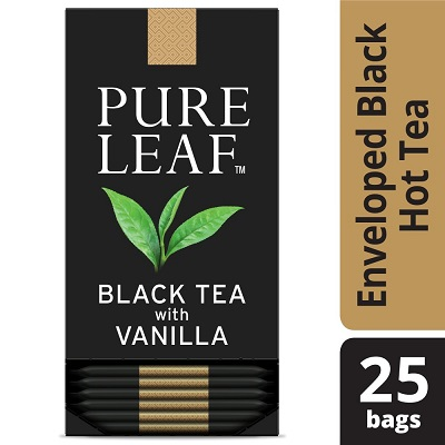Pure Leaf® Hot Tea Bags Black Tea with Vanilla 25 count, Pack of 6