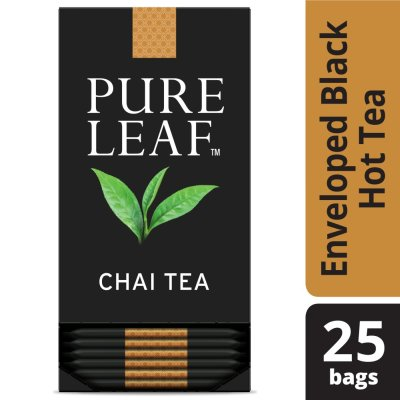 Pure Leaf® Hot Tea Bags Chai  25 ct, Pack of 6 - Pure Leaf ® Hot Teas match the careful craftsmanship of your menu.
