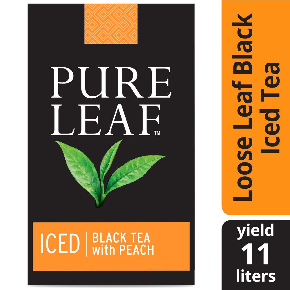 Pure Leaf® Iced Loose Tea Pouch Black with Peach, 3 gallon, 24 count