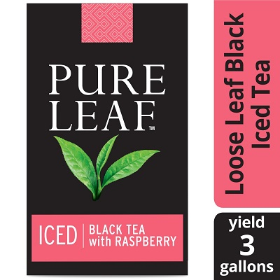 Pure Leaf® Iced Loose Tea Pouch Black with Raspberry, 3 gallon, 24 count