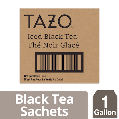 Tazo Fresh Brewed Iced Tea Black 1 gallon, Pack of 20