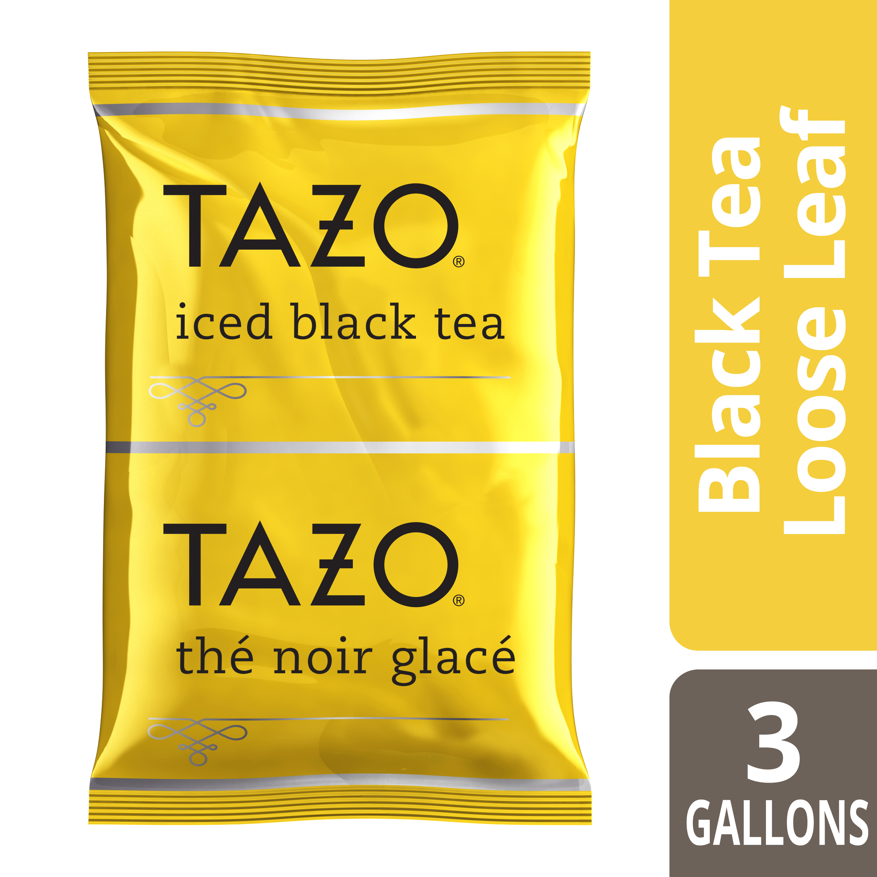Tazo® Fresh Brewed Iced Tea Black 3 gallon, Pack of 48
