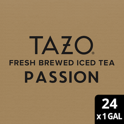 Tazo Fresh Brewed Iced Tea Passion 1 gallon, Pack of 24