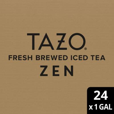 Tazo Fresh Brewed Iced Tea Zen Green 1 gallon, Pack of 24