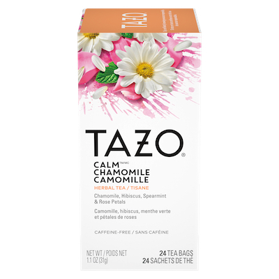 Tazo® Hot Tea Filterbag Calm Chamomile 24 count, pack of 6 -