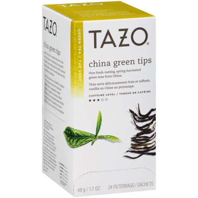 Tazo Hot Tea Filterbag China Green Tips 24 count, Pack of 6