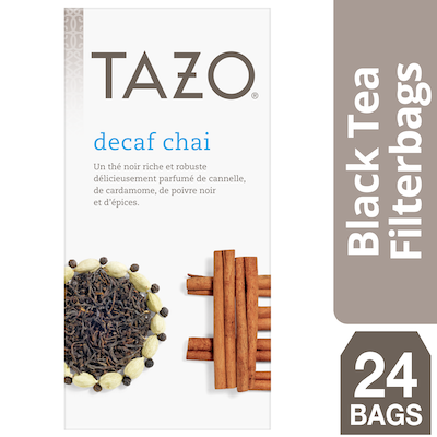 Tazo Hot Tea Filterbag Decaf Chai 24 count, Pack of 6