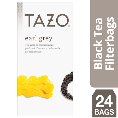 Tazo Hot Tea Filterbag Earl Grey 24 count, Pack of 6