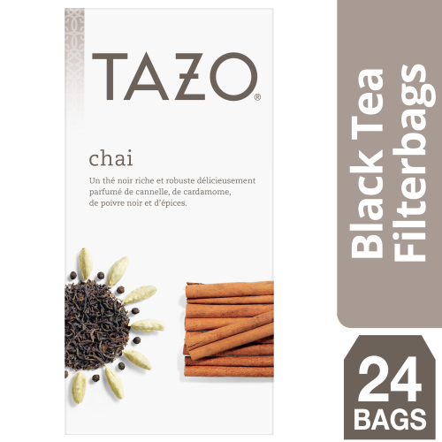 Tazo® Hot Tea Filterbag Organic Chai 24 count, Pack of 6