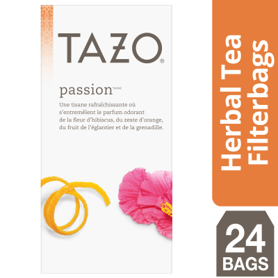 Tazo Hot Tea Filterbag Passion 24 count, Pack of 6