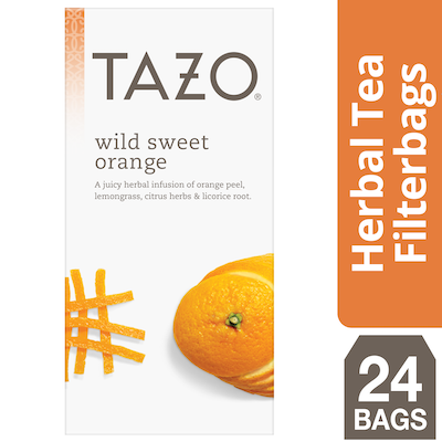 Tazo Hot Tea Filterbag Wild Sweet Orange 24 count, Pack of 6