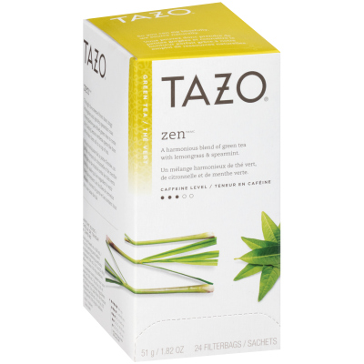 Tazo Hot Tea Filterbag Zen Green 24 count, Pack of 6