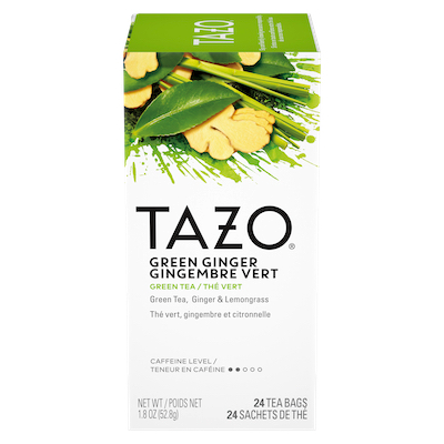 TAZO® Hot Tea Green Ginger 6 x 24 bags - We've got our own thing brewing: dare to be different