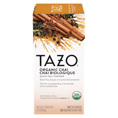 TAZO® Hot Tea Organic Chai 6 x 24 bags - We've got our own thing brewing the TAZO® Hot Tea Organic Chai (6 x 24 bags): dare to be different