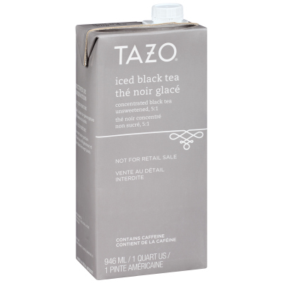 Tazo Iced Tea Concentrate Black 5:1 32 ounces, Pack of 6