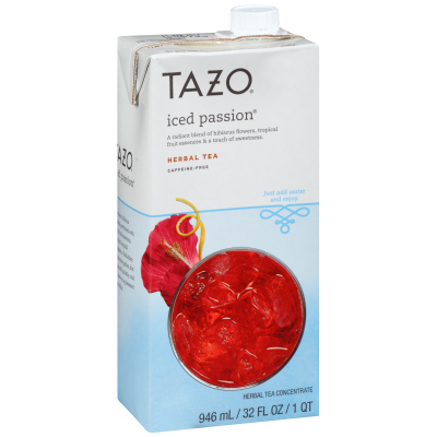 Tazo Iced Tea Concentrate Passion 1:1 32 ounces, Pack of 6