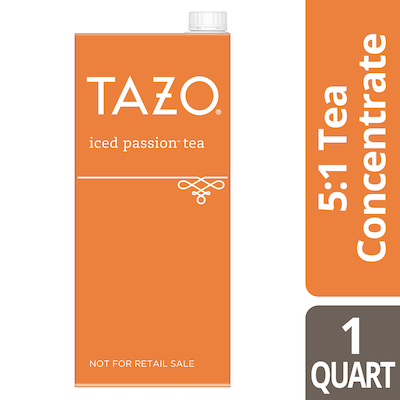Tazo® Iced Tea Concentrate Passion 5:1 32 ounces, Pack of 6 -