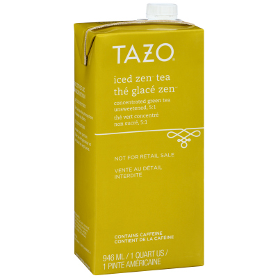 Tazo Iced Tea Concentrate Zen Green 5:1 32 ounces, Pack of 6