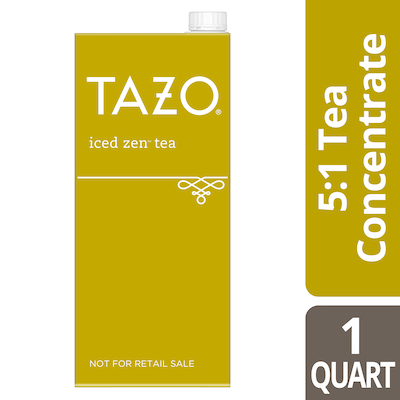 Tazo® Iced Tea Concentrate Zen Green 5:1 32 ounces, Pack of 6 -