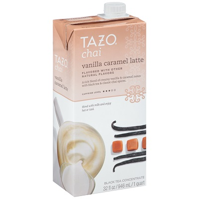 Tazo Tea Concentrate Classic Chai Latte 1:1 32 ounces, Pack of 6