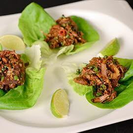 Jackfruit Larb in Lettuce Cups