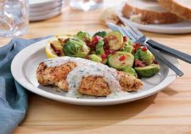 Roasted Chicken Breast with Tarragon Mustard Sauce