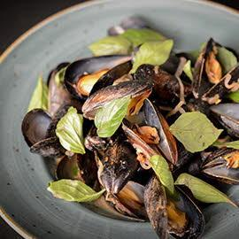 Steamed Mussels in a Thai Broth