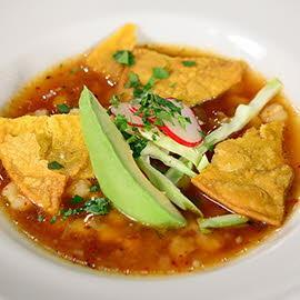 Toasted Tortilla Soup with Fresh Cheese, Chicken and Avocado