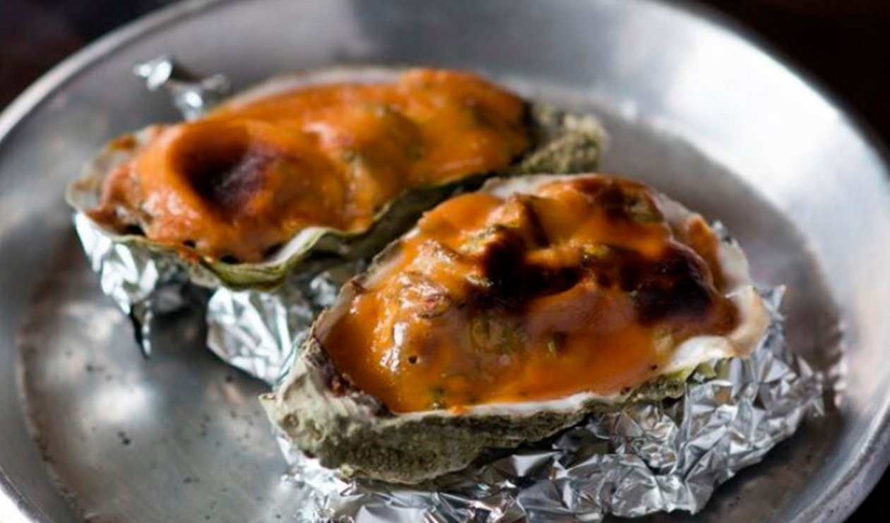 Baked Oyster with Marmite – recipe