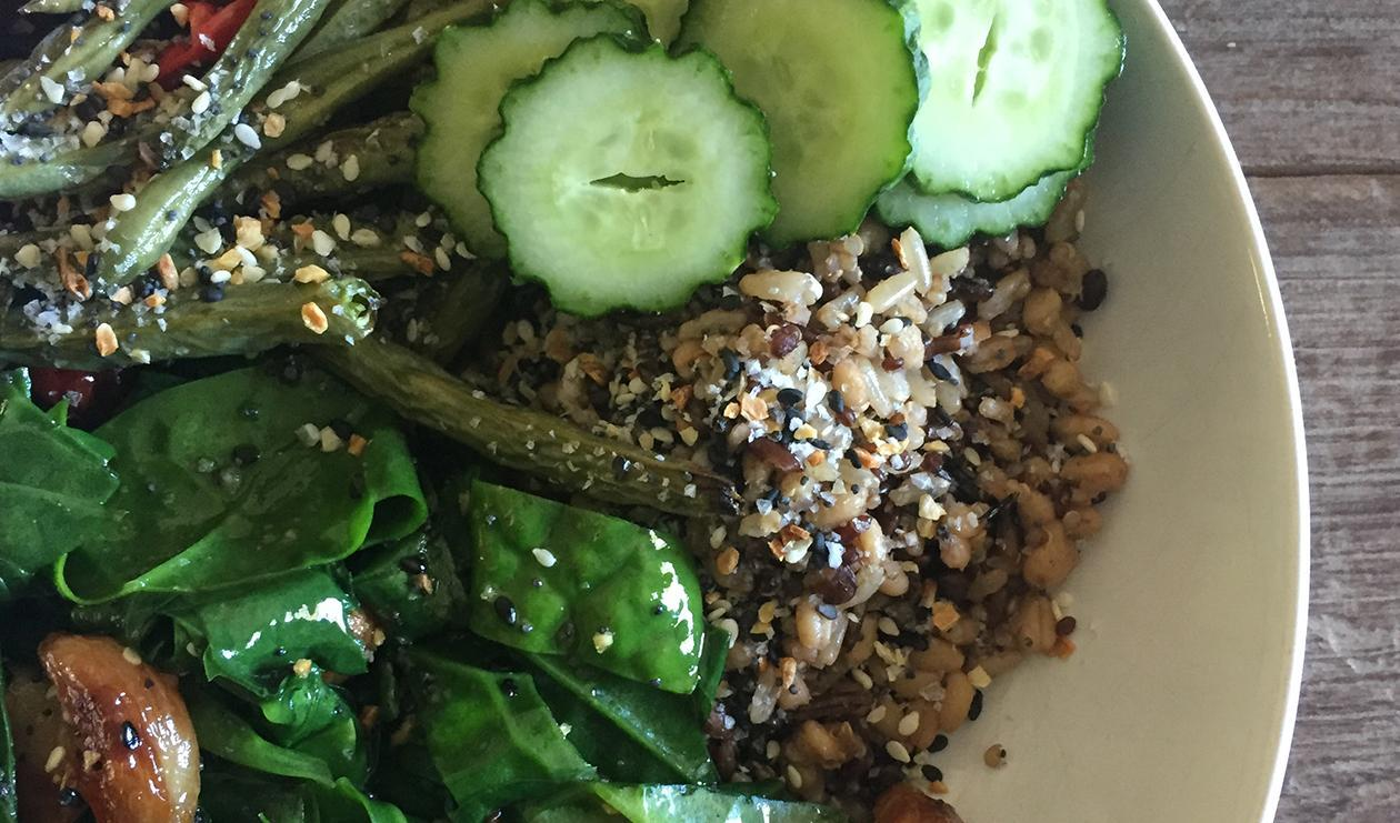 Bulgur Greens Bowl – recipe