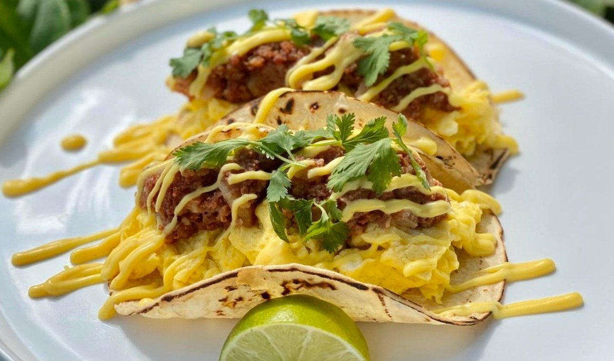 Corned Beef Hash Breakfast Tacos