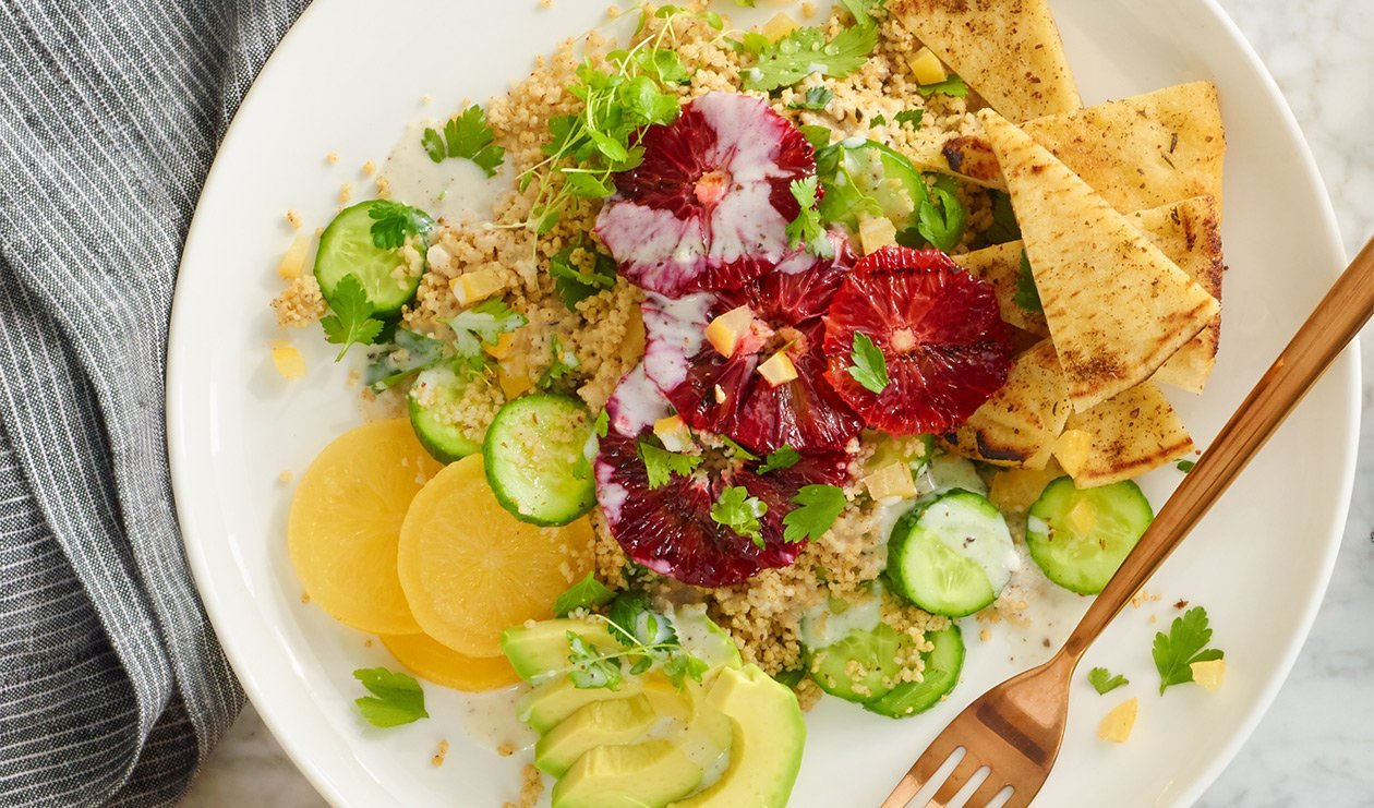Grilled Blood Orange Couscous Salad – recipe