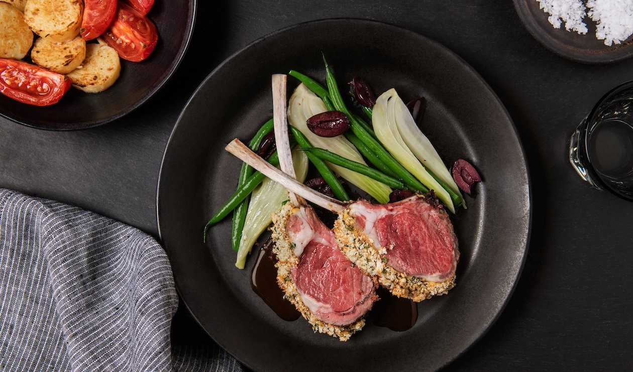 Herb and Dijon-Crusted Rack of Welsh Lamb – recipe